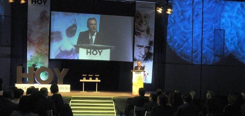 Intervención del director del diario HOY durante la gala